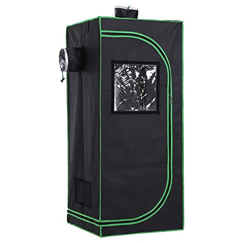 Outsunny Tenda da Coltivazione Idroponica in Mylar e Oxford 600D per Riflettere la Luce grow box grow tenda 60 x 60 x 140 cm