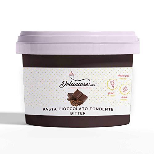 Pasta Cioccolato Bitter per Pasticceria e Gelati da gusto Forte di Fondente 500g
