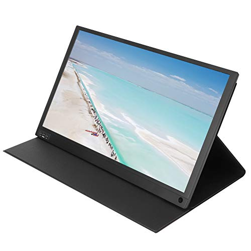 Dpofirs 15,6 Pulgadas Mini HDMI Tipo C Pantalla IPS Portátil, HD 1080P Monitor Universal de 178 ° Amplio Ángulo de Visión para Teléfonos Móviles Tabletas Computadoras y Consola de Juegos