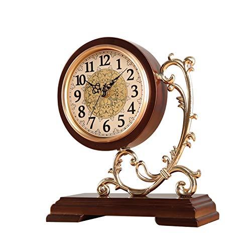 luckxuan Reloj de Mesa Gran resk Silent Sky Reloj Retro Sala de Estar Decoración Reloj de Escritorio Batería Powered Mantel Reloj Sweep Second Movimiento 10.2 Pulgadas Relojes de Escritorio