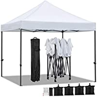 Yaheetech 3 X 3 M Carpa Plegable para Jardín Cenador Toldo para Camping Festival Playa con Bolsa