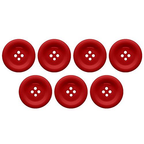 Soul-Cats® Knopfset in verschiedenen Farben und Größen Kunststoff bunt, Größe:25 mm;Farbe:rot