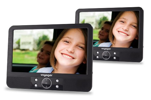 Voyager 9 inch Twin Screen In Car Portable DVD Player with...