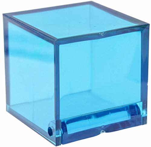 Generique - 4 Boîtes Cube Turquoise