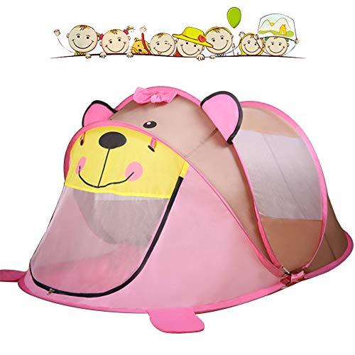Kinderen cartoon pop-up play tent, [1 deur en 2 ramen] indoor speelgoed huis, oversized ballenbad, opvouwbaar, geschikt voor 1-7 jaar oud prinses/baby/kids,1
