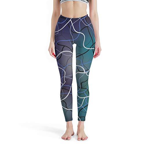 NeiBangM Sport-Leggings Bleistifthose Stretchhose für Fitness white11 l