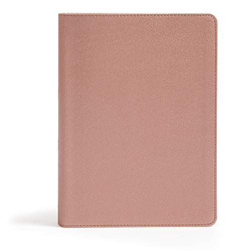 CSB She Reads Truth Bible, Rose Gold LeatherTouch®, Indexed, Black Letter, Full-Color Design, Wide Margins, Notetaking Space, Devotionals, Reading ... Sewn Binding, Easy-to-Read Bible Serif Type