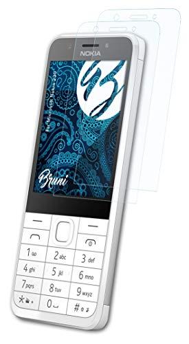 Bruni Schutzfolie kompatibel mit Microsoft Nokia 230 Folie, glasklare Bildschirmschutzfolie (2X)