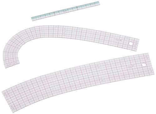 Clover ソーイング用品 クロバー カーブ定規 ミニものさし付 25-051