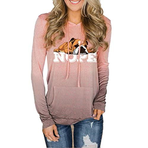 Pullover Neiner faule englische Bulldogge Hundes-Sweatshirt mit Kapuze elegantes Sweatshirt Frauen Standard Rundhals Hoodies Halten Warme Mäntel Ultra Soft...