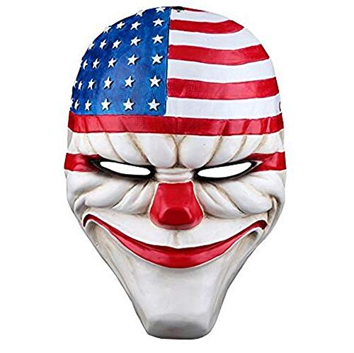 meg Payday 2 Mask USA Flag Mask Masquerade Cosplay Halloween Party Mask Top Grate Resin Collection Handmade Movie Theme of Harvest Day 2