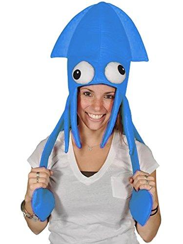 Novelty Blue Squid Octopus Hat Costume Party Hat Cap