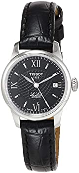 Tissot Women's Le Locle Leather Black Dial Watch