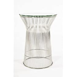 Control Brand Stainless Steel & Glass End Table, Silver/Clear