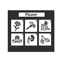 Tickas ステンシル、子供描画ステンシルPET素材の絵画テンプレート再利用可能なDIY絵画クラフトジャーナルノートブック日記スクラップブッキングカード装飾