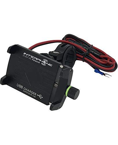 Cellularline houder voor SMARTPHONE MOTO CRAB EVO USB-houder van aluminium, ultra robuust met geïntegreerde USB-poort voor het opladen