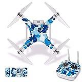 Accesorios para drones Camuflaje Impermeable PVC Calcomanía de piel para DJI Phantom 3 Película protectora para el cuerpo del dron + Cubierta del control remoto [J30023] Accesorios para cuadricópteros