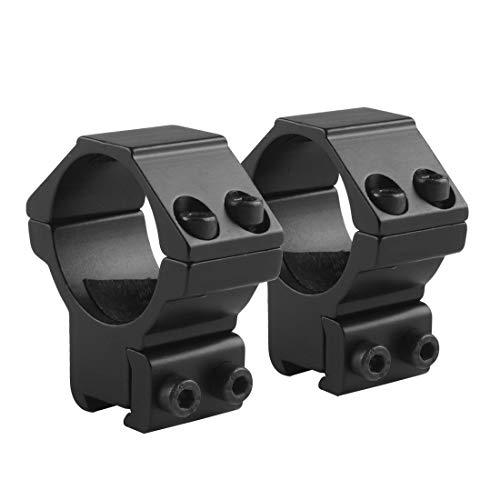 1 Zoll/30mm Zielfernrohr Ringe Montage Hoch/Mittleres/Niedriges Profil 2 Stücke für 11mm/20mm Picatinny/Weaver Rail CJ/MJJ-01 (30mm Ringe, Niedriges Profil, for 11mm Rail)