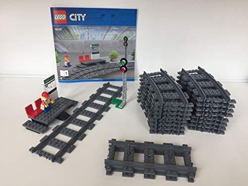 EB LEGO City - Ferrovia e segnale, con 16 curve e 4 guide dritte (60197)