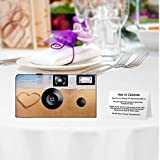 5 Love in The Sand Disposable Cameras, Anniversary, Party, Single use, Flash F50512-5pk