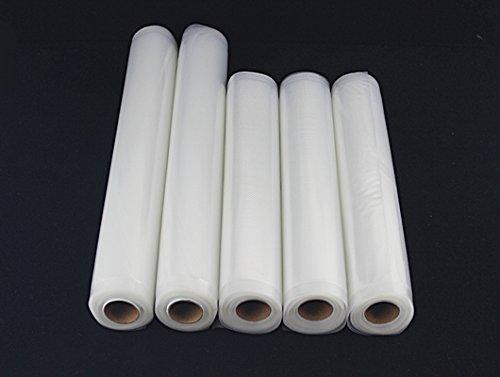 5 x Folie Ersatzfolie Vakuum Folienschweißgeräte Vakuumgerät (22x300/28x300 cm)