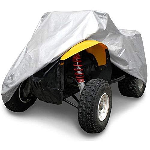 BINGFENG ATV-Autoabdeckung Wasserdicht UV-beständig Staubdicht Nylon + PVC-Beschichtet Silber (L-3XL) Silver-XXL