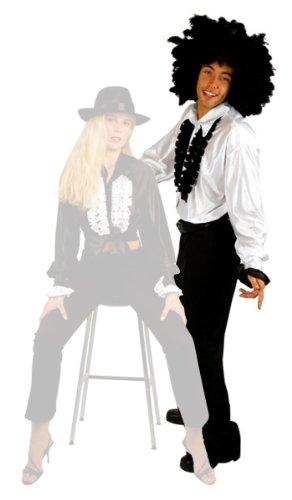 Boland Chemise disco bi - couleur noire et blanche Taille : M - 38/40