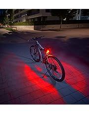 FISCHER Twin fietsachterlicht met 360° bodemlamp voor meer zichtbaarheid en bescherming, oplaadbare accu
