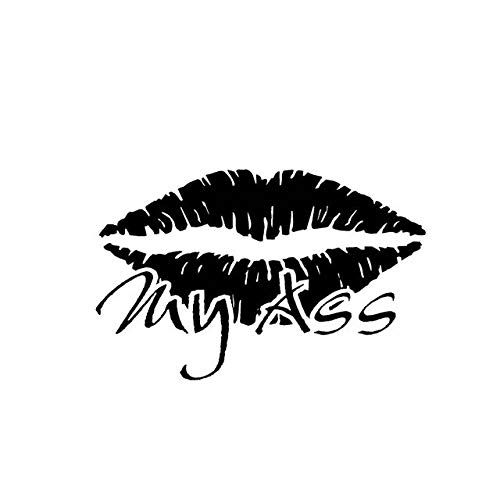 12.3 * 8CM Hot Sexy Lip Kiss My Ass Silhoutte Popular Fashion Style Car Sticker Black/Silver Vinyl Car Decal C20-0894 Black