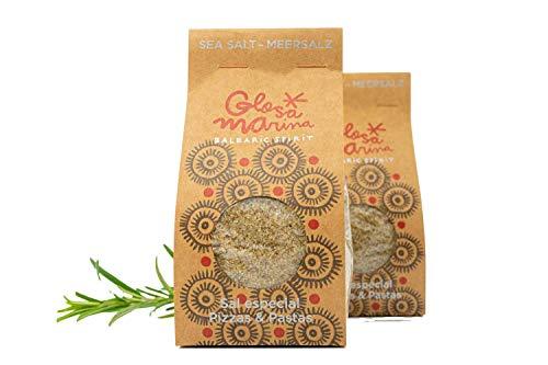 Glosa Marina - Pizza und Pasta Gewürzsalz aus Mallorca, ideales Salz für Spaghetti Bolognese oder als Pizzagewürz im 200g Pack