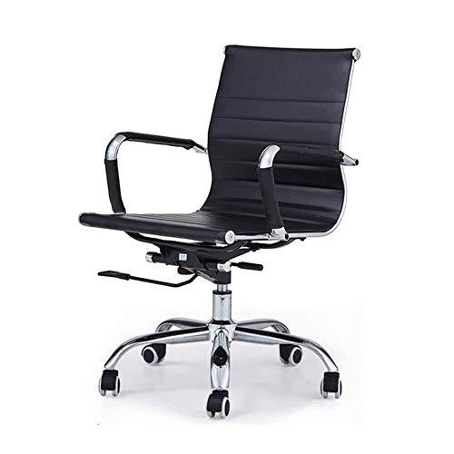 YouYou-YC bureaustoel, computerstoel, conferentiestoel, home lederen draaibare stoel met hoge rugleuning stoel en lage rugleuning stoel bureaustoel