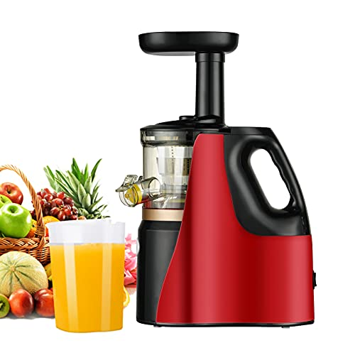 Masticating Juicer, Slow Juicer Cold Press Juicer machine With Upgrade Easy Clean Juicer Filter, Higher Juice Yield,150W Motor, Reverse Function,2 Juice Cup 1 Brush for Family Daily Use