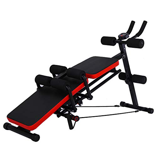 Sit Up Bench, Upgrade Multifunctional Fitness Machine, 8 IN 1 Abdominal Trainers Push Ups Workout Beauty Waist Machine Height Adjustable Sit-up Exerciser Home Trainer Dumbbell Bench for Home Gym
