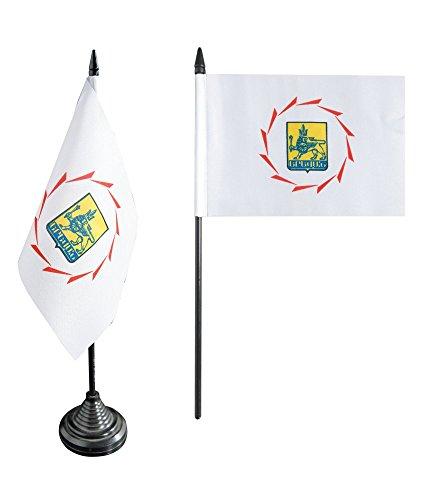 Flaggenfritze Tischflagge/Tischfahne Armenien Jerewan Eriwan + gratis Aufkleber