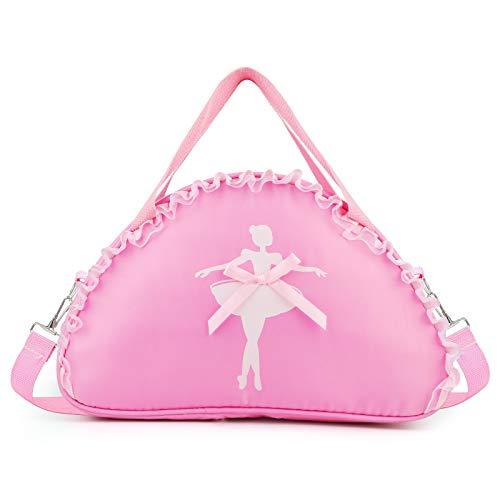 Hifot Bolsa Ballet Niña Rosa, Mochila Mochila Deporte Gimnasia Ritmica Bolsas Zapatos Viaje Bandolera Escolar Niña Bolsa Deporte, Princesa Ballerina Regalo de Cumpleaños-Cordón