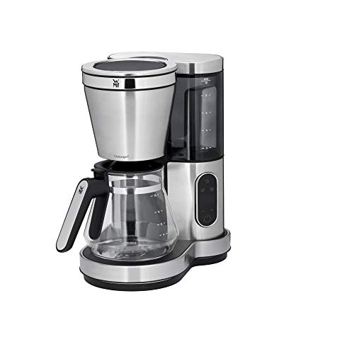 WMF Lumero Filterkaffeemaschine mit Glaskanne, 10 Tassen, Kaffeemaschine, Touch Display Warmhalteplatte Timer abnehmbarer Wassertank Abschaltautomatik