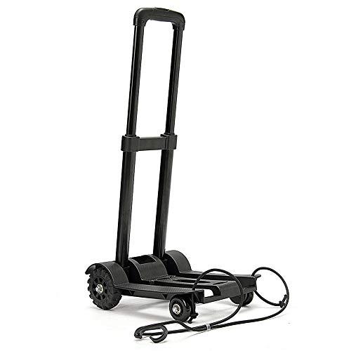 DHTOMC Carro de la compra plegable de cuatro ruedas de alta resistencia plegable plegable de mano carretilla de equipaje carro de la herramienta de carro de compras para viajes