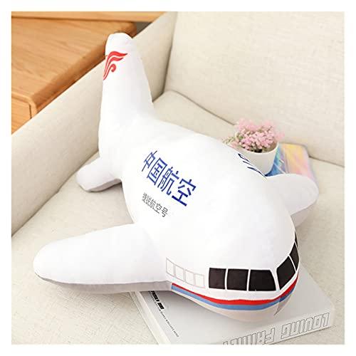 CHENPINBH Plüschtiere Große Simulation Flugzeug plüsch Spielzeug Kinder schlafen zurück Kissen weiche Flugzeug gefüllte Dekoration (Color : 1, Height : 80cm)