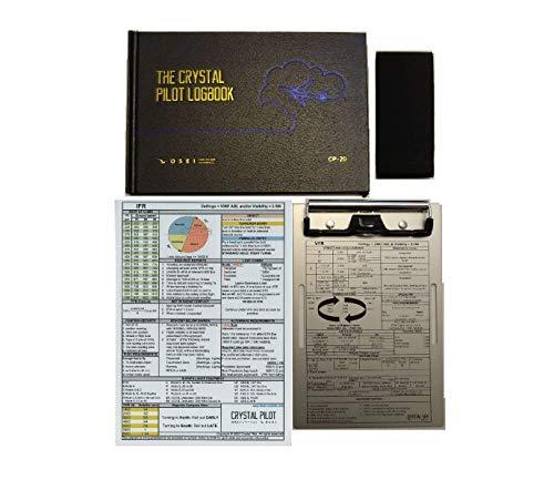 Crystal Pilot Aluminum Kneeboard, Pilot Log Book, VFR-IFR Placard