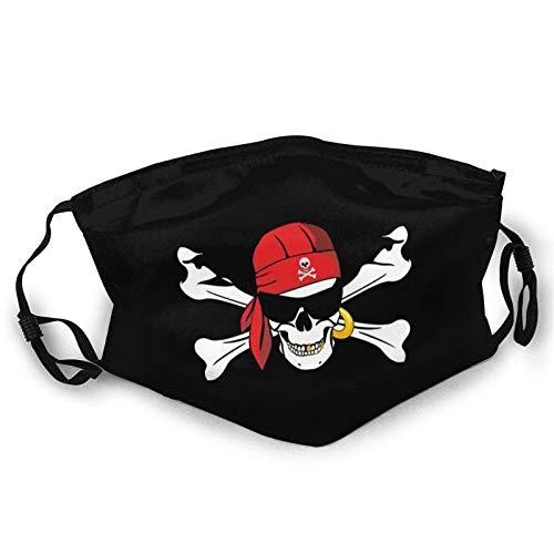 Parche para gafas de sol con bandera pirata Jolly Roger, cráneo, negro, para adultos y niños