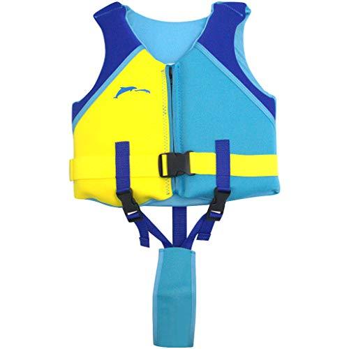 Hony kinderbadpak zwempak - jongens zwemkleding meisjes badmode mouwloos baby badkleding eendelig met zwemvleugels zwemtrainer