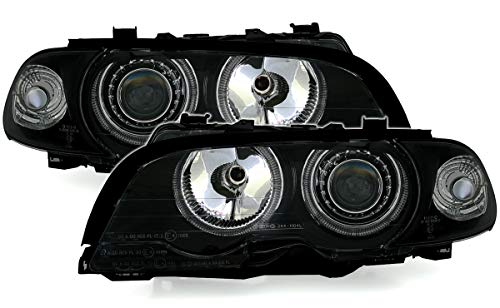 AD Tuning GmbH & CoPhares KG 960758, Jeu de phares Angel Eyes, Verre Transparent - Noir