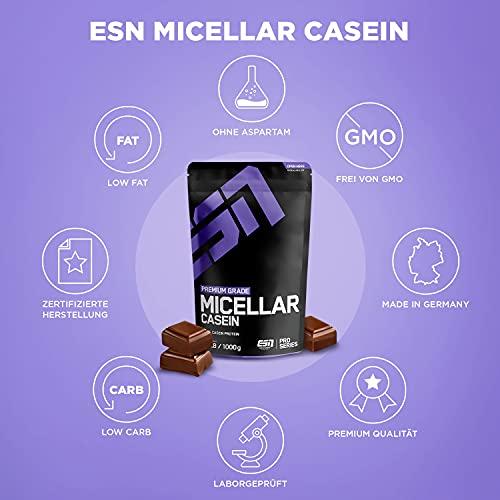 ESN Micellar Casein, Pro Series, Chocolate, 1er Pack (1 x 1000g Beutel) - 5