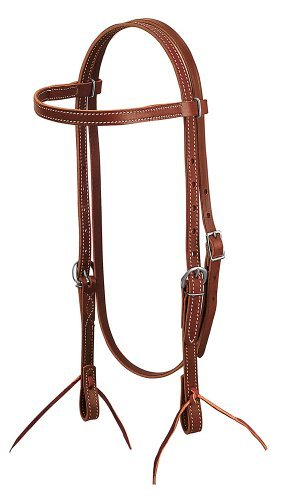 Weaver Leather Latigo Leather Browband Headstall by Weaver Leather