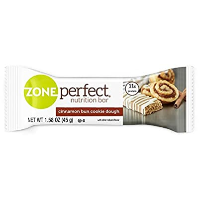 ZonePerfect Nutrition Snack Bars, Cinnamon Bun Cookie Dough, 1.58 oz, (30 Count)
