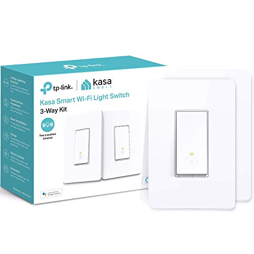 Kasa Smart HS210 KIT 3 Way Smart Switch Kit by TP-Link, Wi-Fi Light Switch works with Alexa and Google Home, Neutral Wire Required, No Hub Required, UL Certified, 2-Pack