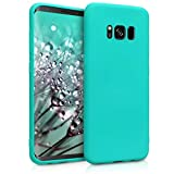 kwmobile Cover compatibile con Samsung Galaxy S8 - Custodia in silicone TPU - Backcover protezione posteriore- turchese neon
