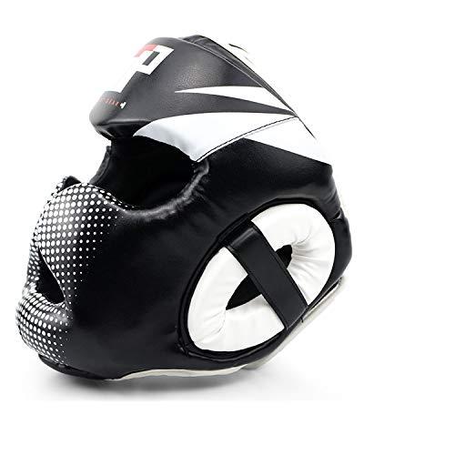 Essential Professional Boxing MMA Kickboxing Head Gear (White, L/XL)