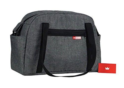 BabyLux Wickeltasche CANDY FLEX Kinderwagentasche Baby Windel Tasche Pflegetasche (CandyFlex Grau)