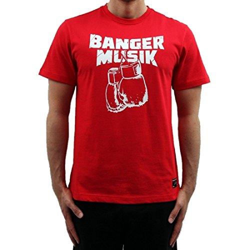 Banger Musik T-Shirt Logo rot (S)